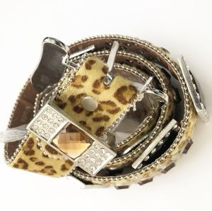 Atlas Accessories - NWT | Atlas Cheetah Bling Belt